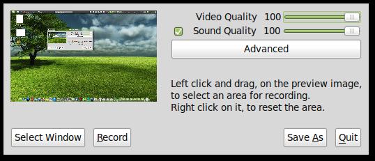 recordMyDesktop screenshot