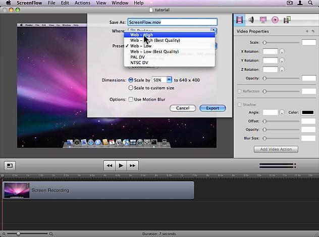 ScreenFlow screenshot