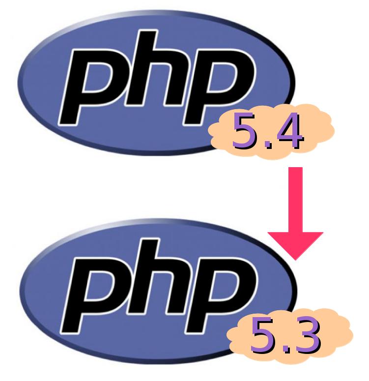 downgrad-php54