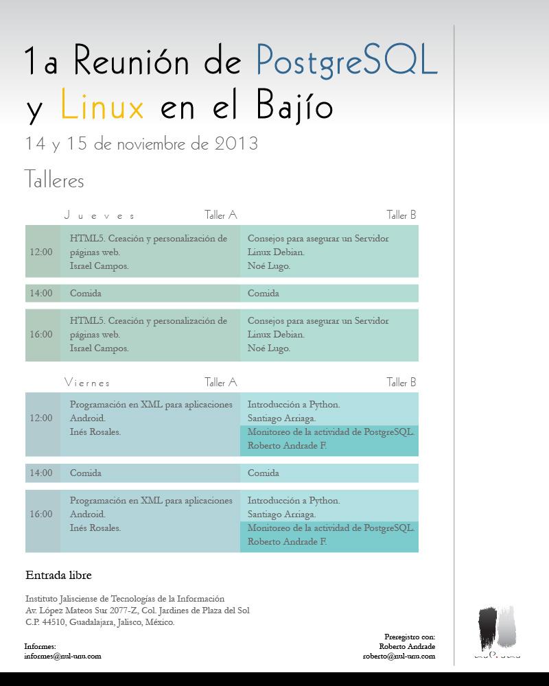 1a Reunión De Usuarios De Linux Y PostgreSQL En El Bajío