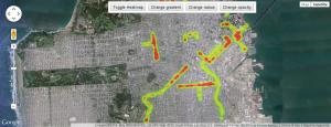 Google Maps API v3 heatmap example