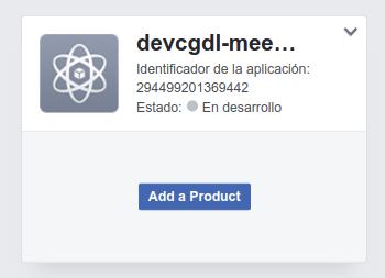 AccountKit con NodeJS - Crear aplicación
